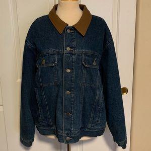 Men's Jean Jacket w/Leather Collar